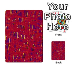 Red and blue pattern Multi-purpose Cards (Rectangle)