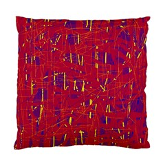 Red and blue pattern Standard Cushion Case (Two Sides)