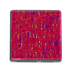 Red and blue pattern Memory Card Reader (Square)