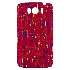 Red and blue pattern HTC Sensation XL Hardshell Case