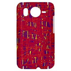 Red and blue pattern HTC Desire HD Hardshell Case