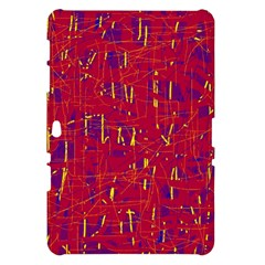 Red and blue pattern Samsung Galaxy Tab 10.1  P7500 Hardshell Case