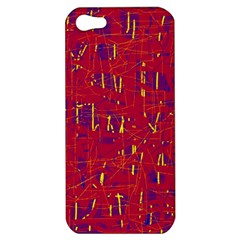 Red and blue pattern Apple iPhone 5 Hardshell Case