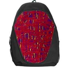 Red and blue pattern Backpack Bag