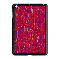 Red and blue pattern Apple iPad Mini Case (Black)