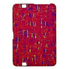 Red and blue pattern Kindle Fire HD 8.9