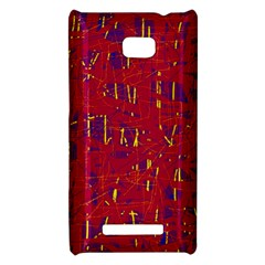 Red and blue pattern HTC 8X