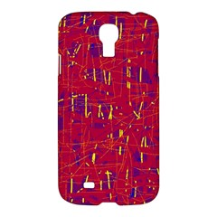 Red and blue pattern Samsung Galaxy S4 I9500/I9505 Hardshell Case