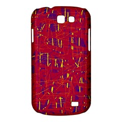 Red and blue pattern Samsung Galaxy Express I8730 Hardshell Case