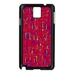 Red and blue pattern Samsung Galaxy Note 3 N9005 Case (Black)