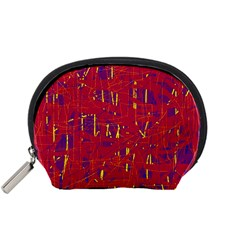 Red and blue pattern Accessory Pouches (Small)