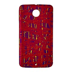 Red and blue pattern Nexus 6 Case (White)