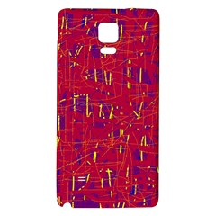 Red and blue pattern Galaxy Note 4 Back Case