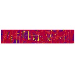 Red and blue pattern Flano Scarf (Large)