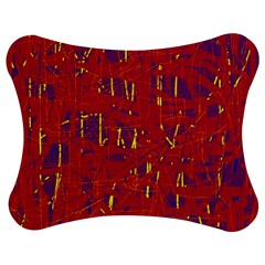Red and blue pattern Jigsaw Puzzle Photo Stand (Bow)