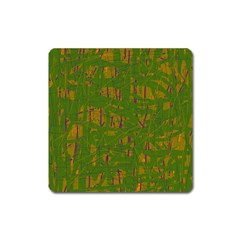 Green pattern Square Magnet