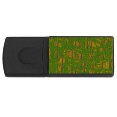 Green pattern USB Flash Drive Rectangular (2 GB)