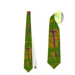 Green pattern Neckties (One Side)