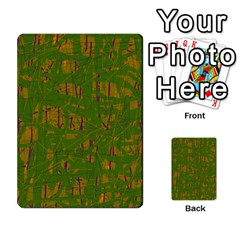 Green pattern Multi-purpose Cards (Rectangle)