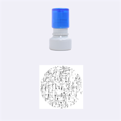 Green pattern Rubber Round Stamps (Small)