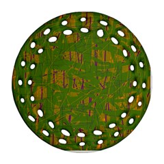 Green pattern Ornament (Round Filigree)