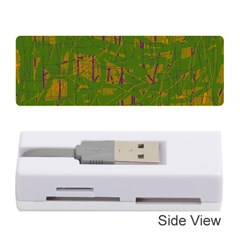 Green Pattern Memory Card Reader (stick)