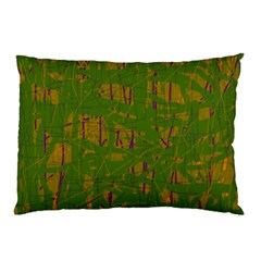 Green pattern Pillow Case (Two Sides)