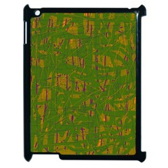 Green pattern Apple iPad 2 Case (Black)