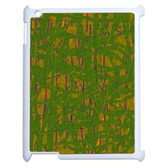 Green pattern Apple iPad 2 Case (White)