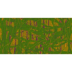Green Pattern You Are Invited 3d Greeting Card (8x4)
