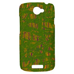 Green pattern HTC One S Hardshell Case