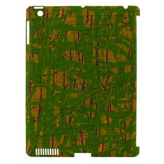 Green pattern Apple iPad 3/4 Hardshell Case (Compatible with Smart Cover)