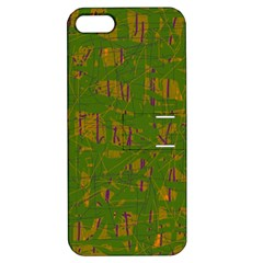 Green pattern Apple iPhone 5 Hardshell Case with Stand