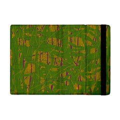 Green pattern iPad Mini 2 Flip Cases