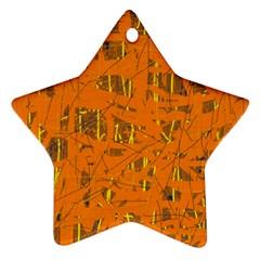 Orange pattern Ornament (Star)
