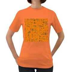 Orange pattern Women s Dark T-Shirt