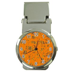 Orange pattern Money Clip Watches