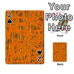 Orange Pattern Playing Cards 54 Designs