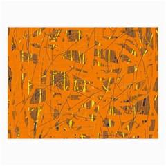 Orange pattern Collage Prints