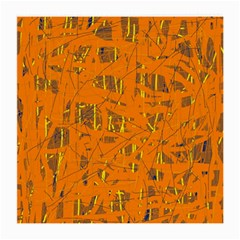 Orange pattern Medium Glasses Cloth (2-Side)
