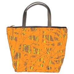 Orange Pattern Bucket Bags