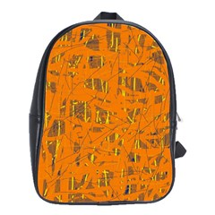 Orange pattern School Bags(Large)
