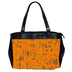 Orange pattern Office Handbags (2 Sides)