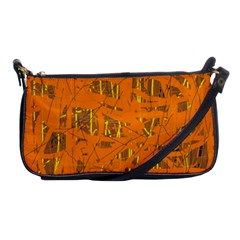 Orange pattern Shoulder Clutch Bags