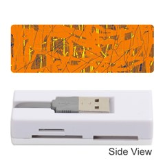 Orange pattern Memory Card Reader (Stick)