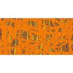 Orange pattern YOU ARE INVITED 3D Greeting Card (8x4)