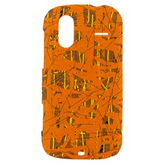 Orange pattern HTC Amaze 4G Hardshell Case