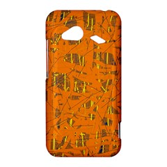 Orange pattern HTC Droid Incredible 4G LTE Hardshell Case