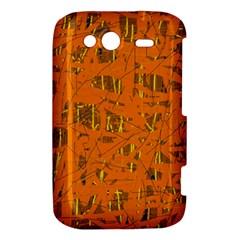 Orange pattern HTC Wildfire S A510e Hardshell Case