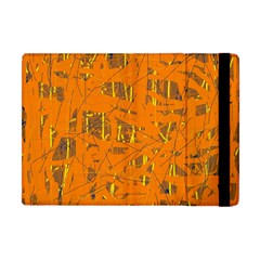 Orange pattern Apple iPad Mini Flip Case